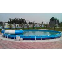 Buy cheap Family Entertainment Metal Framed Swimming Pools Round Custom Made product