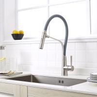 Quality Unique high quality hot cold water pull out kitchen sink faucet For US market for sale