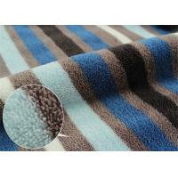 Buy cheap Multi Colored Stripe Printed Coral Fleece Fabric Double Sided product
