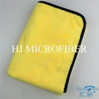 Buy cheap Professional Microfiber Car Cleaning Towel Super Absorbent Yellow Color High - low Pile Cloth product