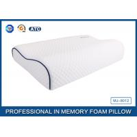Buy cheap Customized Embroidery Logo Tencel Fabric Contour Memory Foam Pillow With Piping product