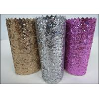 Custom Design Grade 3 PU Glitter Fabric 0.7mm For Making Hair Accessories for sale