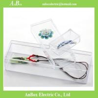 Cheap price high transparent PS material plastic packaging box with cover and bottom