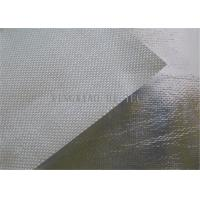 Buy cheap 550℃ Aluminum Foil Coated Texturized Fiberglass Fabric , Aluminized Fiberglass Cloth product
