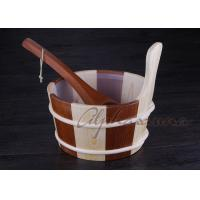 Buy cheap Popular sauna buckets And Ladle , portable home sauna set Durable from Wholesalers