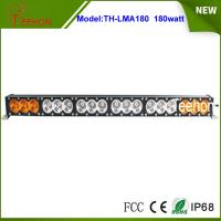 Buy cheap 14400lm  32.6 inch amber and white color cover 180w single stack off-road led light bar product