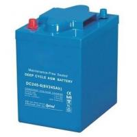 Buy cheap 245Ah VRLA AGM Battery , 6 Volt Deep Cycle Battery For EV Golf / Utility Vehicle product