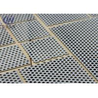 Buy cheap Galvanized and Powder Perforated Metal Mesh Soundproof Silver Color product