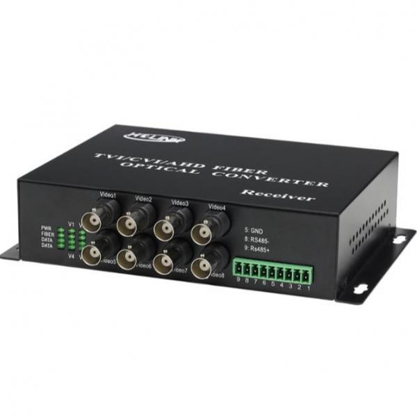 Quality 8-CH Cvi Tvi Ahd Fiber extender 1080P Fiber Optic Video Converter Fiber Optic Video Transmitter 720p/1080p for sale