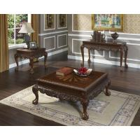 Solid coffee table wood set 103548456 for Real wood coffee table sets