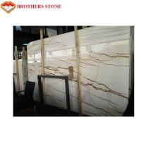 Buy cheap Unmagnetized Sofitel Gold Marble Stone Slab For Interior Wall Cladding product