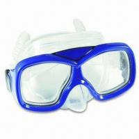 Buy cheap New Diving Mask, Made of Silicone, TPE and PVC with Tempered Glass Lens, from wholesalers