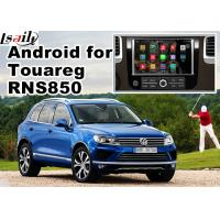 Buy cheap GPS Android Navigation System For Car , Volkswagen Touareg RNS 850 8 Inch Youtube Waze Wifi from Wholesalers