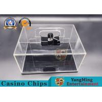 Buy cheap Texas Hold 'em 400 - Yard Mobile Chip Lockable Cash Box Thickened Full Transparent Chip Box Spot Club Dedicated product