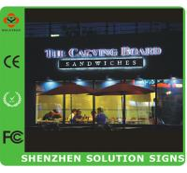 3d led lighted outdoor sign letters of solutionsigns. Black Bedroom Furniture Sets. Home Design Ideas
