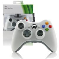 Quality Wired Gamepad XBOX 360 Game Controller White Color Two Vibration Feedback Motors for sale
