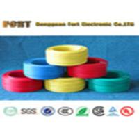 Braid Shielding Teflon Heating Wire , 300V Rating Voltage FEP Flat Electrical Wire