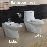 Buy cheap Hot sale Elegent Sanitary Ware Ceramic Bathroom Sets Washdown One piece Toilet with Bidet product