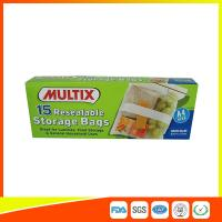 Supermarket Plastic Food Storage Bags / Zip Up Storage Bags Resealable Food Safe