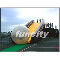 0.55mm PVC Tarpaulin Inflatable Zorbing Ramp with Long Slide Inflatable Zorb Ball