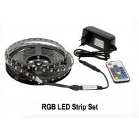 Quality RGB LED Strip Light Kit 5050 DC12V 5m 300 LEDs Fleixble 17Keys RF Controller for sale