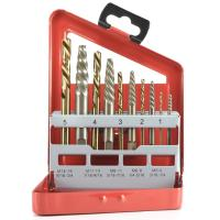China 10pcs Screw Extractor And Cobalt Left Hand Drill Bit Set For Broken Bolt on sale