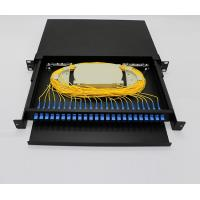 Buy cheap 12 To 96 Core 1U Fiber Optic Terminal Box / FTTH Optical Fiber Patch Panel product