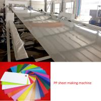 Buy cheap Plastic Sheet Extrusion Line PP sheet extruder machine product