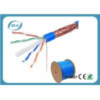 Buy cheap STP Cable Ethernet Cat 6 8 Conductor Solid Bare Copper 23 AWG 550mHz PVC Jacket 1000'' Feet product
