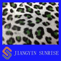 Buy cheap Mirror Surface Leopard Pattern Synthetic Pu Leather For Shoes / Bags / Handbags product