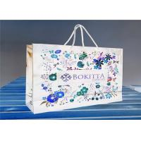Buy cheap OEM Paper Gift Bags With Customized Printed Logo / Jewelry Packaging Bags from wholesalers