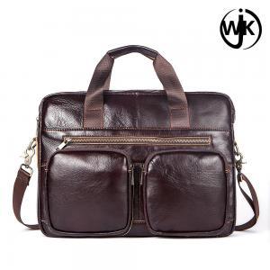 China Wholesale large briefcase messenger bag Classical designed men leather shoulder fancy office leather bag for men on sale