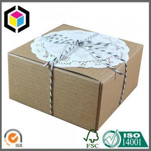 Buy cheap Ribbon Gift Paper Kraft Packaging Box; Kraft Corrugated Gift Paper Box product