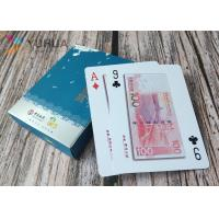 Buy cheap Custom plastic playing cards 100% 0.32mm PVC poker cards with glod stamp from wholesalers
