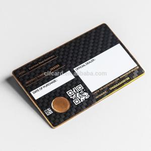 Buy cheap 0.5mm  Luxury Matte Black Metal Business Cards  Carbon Fiber Patterned product