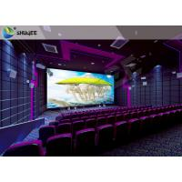 Buy cheap High Definition  Sound Vibration Cinema With Big Screen Dual Projectors product