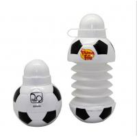 Quality 450ML Foodball&soccer Collapsible Foldable water bottle,BPA free soccer plastic for sale