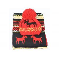 Buy cheap Acrylic Xmas Themed Warm Winter Accessories Scarves Set Custom For Adults product