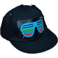 Buy cheap 2019 New Style Customized  Flashing El Caps Football Wireless Custom Light Up EL Hat / Sound Activated wireless led Caps product