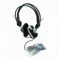 Buy cheap Digital Audio Wired Headphones with 20Hz to 20KHz FR, 25mW Rated Power, 3.5mm Plug product