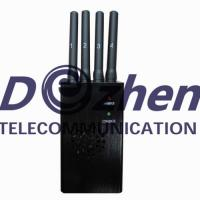 China Portable GPS Mobile Phone Signal Jammer CDMA GSM DCS PCS 3G With Ni - Ion Battery on sale