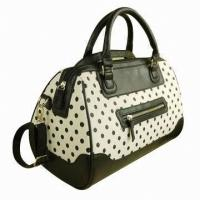 China Polka Dot Trendy Ladies Leather Handbags Zipper Bags For Women Winter / Autumn on sale