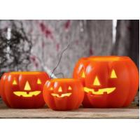 Buy cheap Led Pumpkin Candle With Yellow Light , Plastic Outdoor Pumpkin Lights product