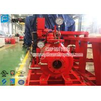 Buy cheap Single Stage End Suction Horizontal Fire Pump Set With Diesel Engine , UL / FM Listed product