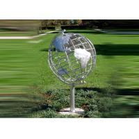 Buy cheap Decorative Stainless Steel Sculpture With Semi - Meridian Globe Shape product