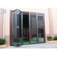 Buy cheap Commerical Building Aluminium Folding Doors Energy Saving With Double Glazing Glass product