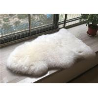 Handmade Washable Sheepskin Rug , Natural Shaped Sheep Throw Blanket For Baby Play