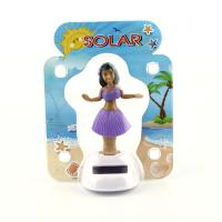 Buy cheap Solar Powered Dancing Hula Girl-Purple  Suit  (Colors Vary)  car dashboard toy from Wholesalers