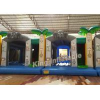Buy cheap Printing Tree Jungle 0.55mm PVC Tarpaulin Small Bouncy Castles Inflatable from Wholesalers