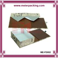 Buy cheap Fashionable texture paper flat folding Presentation Box with gold flocking logo for shoe product